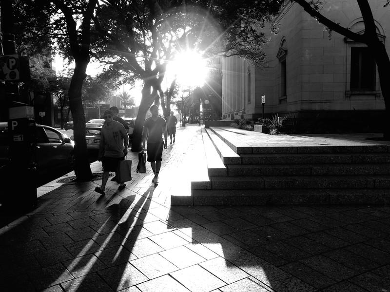Long Shadows, West 6th Street - Austin, Texas