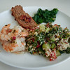 Shrimp, Quinoa, Meatloaf and Spinach - Austin, Texas