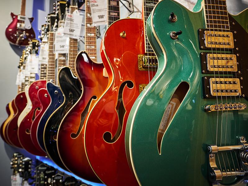 Shiny Colorful Guitars, Guitar Center - Austin, Texas