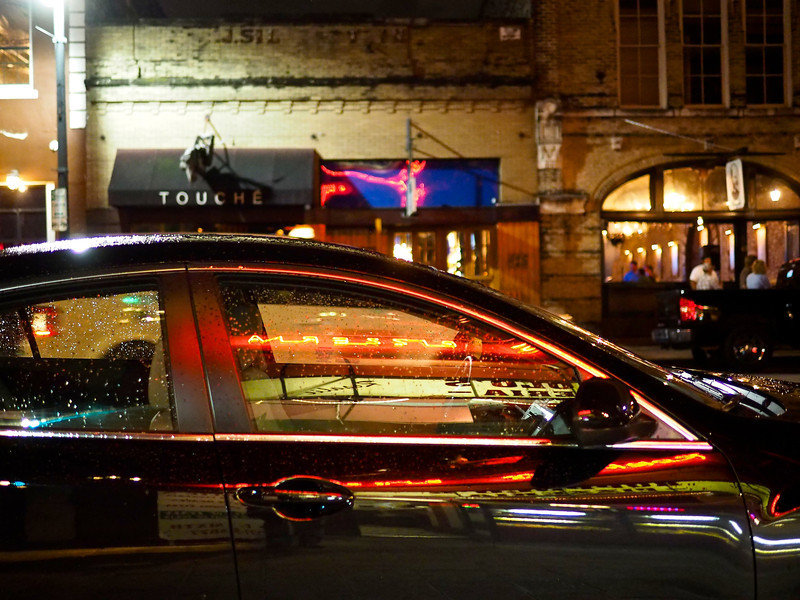 Sedan Reflections, 6th Street - Austin, Texas