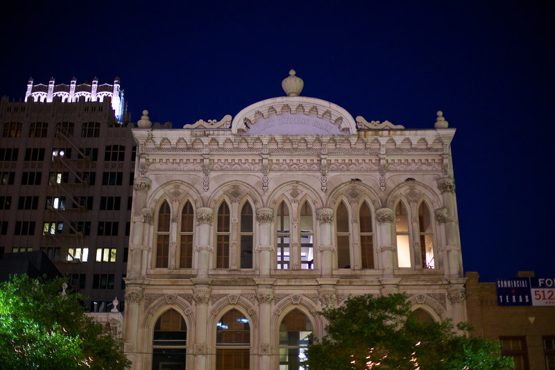 First Citizens Bank at Night - Austin, Texas