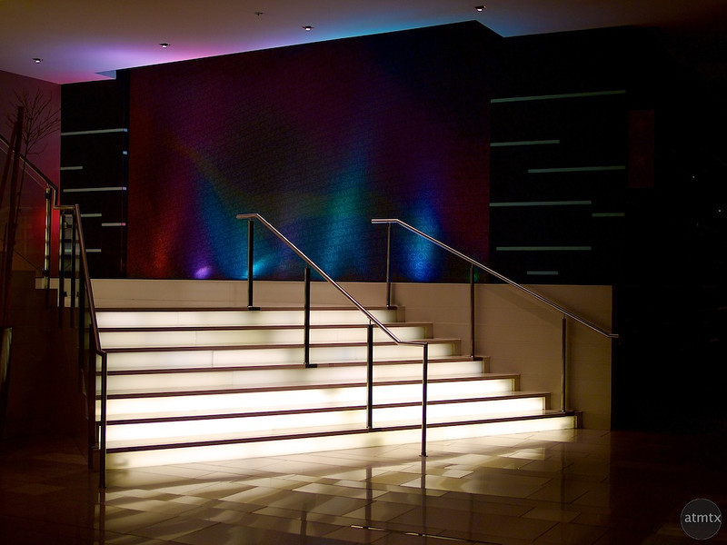 Glowing Stairs, Hard Rock Hotel - San Diego, California
