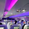 Cabin with mood lighting - Virgin America
