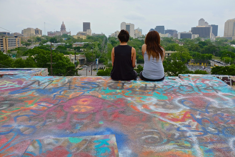 Observations at the graffiti wall 14 - Austin, Texas