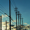 Power Lines Silhouette - Austin, Texas