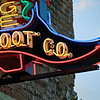 Heritage Boot Co. Neon Closeup #2, SoCo - Austin, Texas