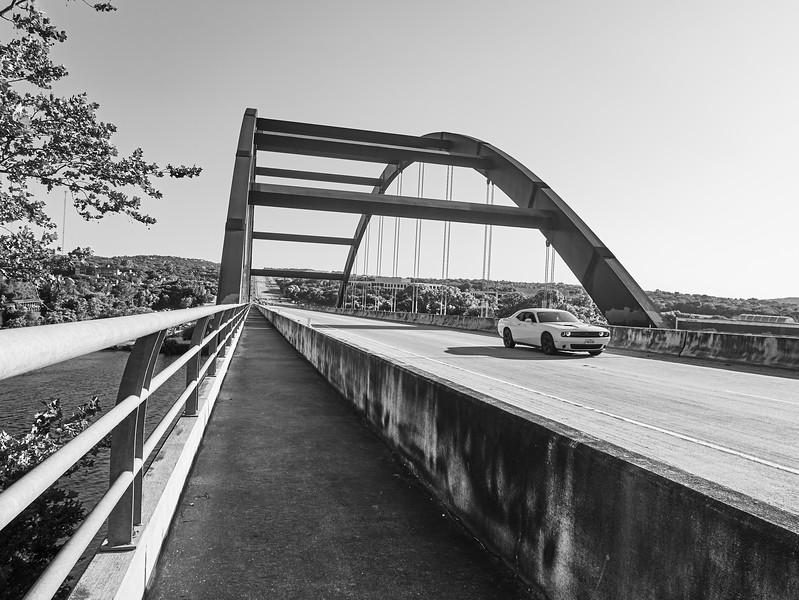 The Muscle Car and Bridge - Austin, Texas
