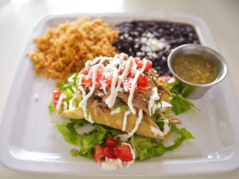Zocalo Cafe, Avocado stuffed with Pork Carnitas - Austin, Texas