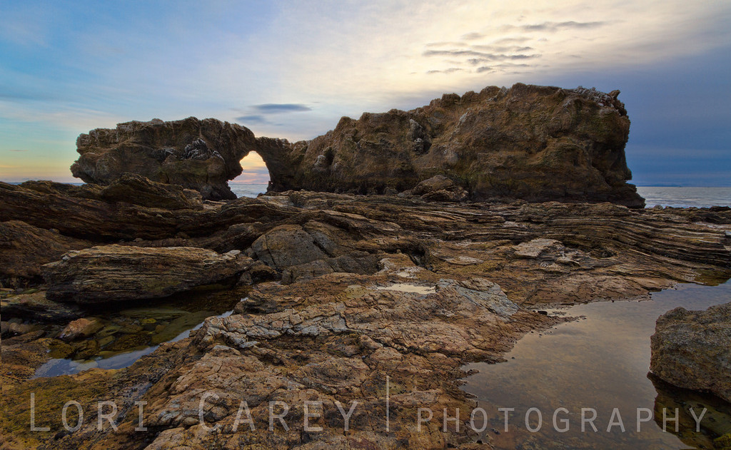 Sea arch and tidepools at Crystal Cove State Park in Newport, California