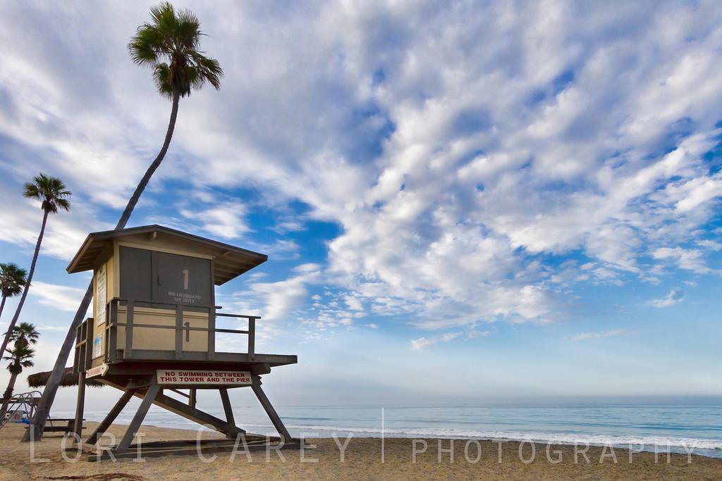 Lifeguard tower, San Clemente beach, California