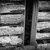 3-24-14: Log building, Honey Run Road