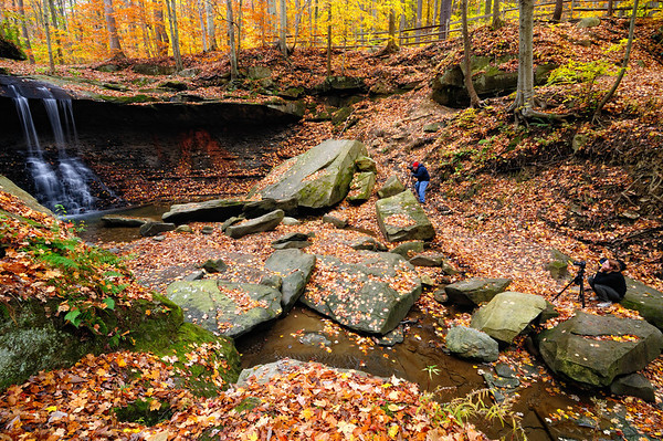 Photographers at Blue Hen Falls - Cuyahoga Valley National Park