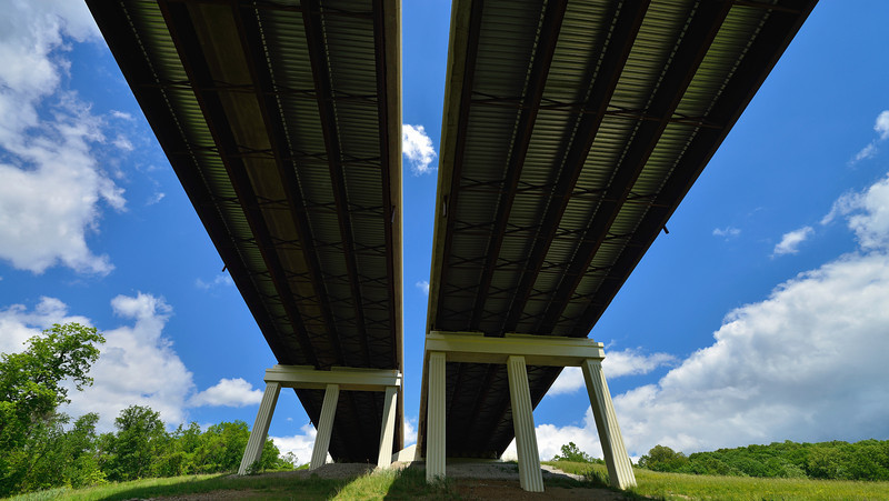 Twin I271 Bridges over the Cuyahoga Valley National Park