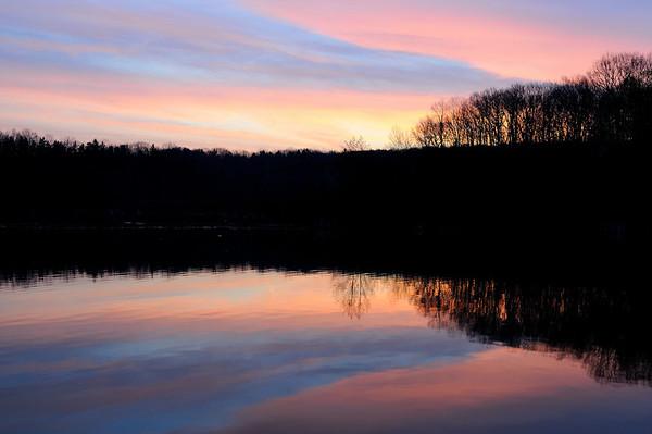 Sunrise at Hinckley Lake