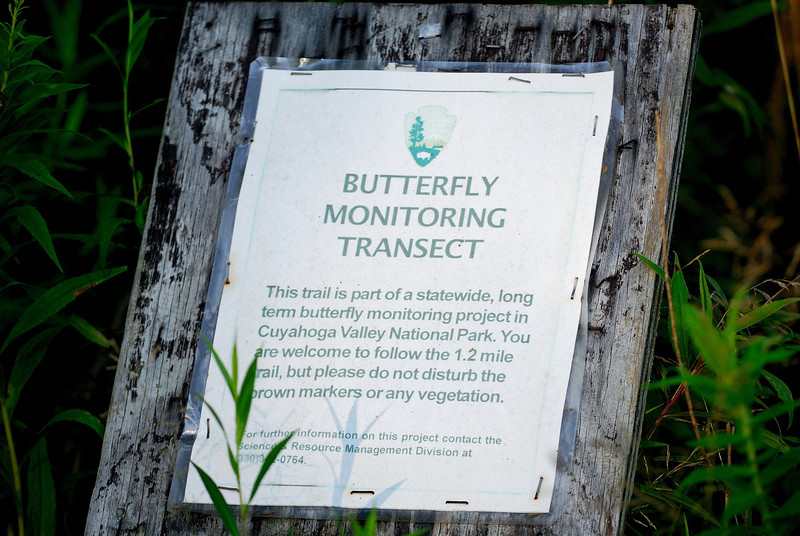 Entrance to the Butterfly Trail - Terra Vista - Cuyahoga Valley National Park