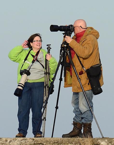 Photographers at the Edgewater Park Marina