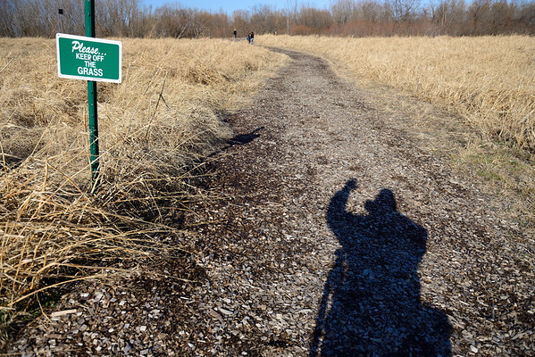 My Shadow at Cleveland Lakefront Nature Preserve