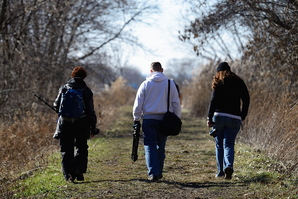 Hikers at Cleveland Lakefront Nature Preserve
