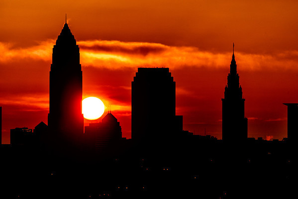 Sun Rising Over Cleveland