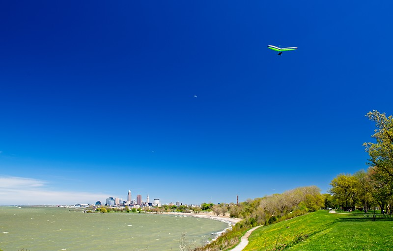 Windy day at Edgewater Park