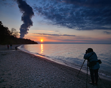 Photographers on the Beach - Lake Metroparks