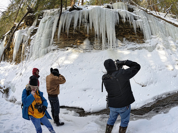 A Winter Hike through the Penitentiary Glen Gorge - Ice Formations