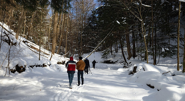 A Winter Hike through the Penitentiary Glen Gorge - Walking up Stoney Creek