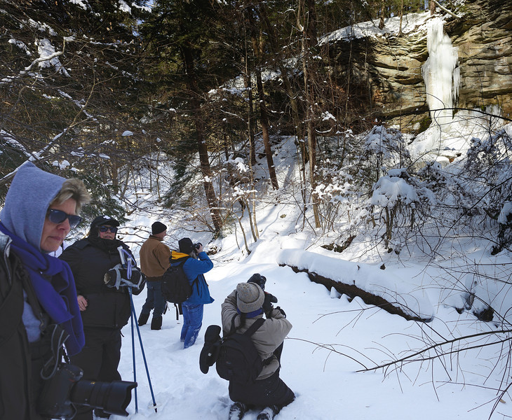 A Winter Hike through the Penitentiary Glen Gorge