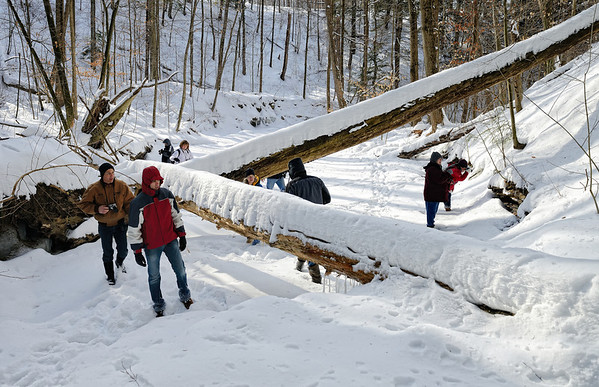 A Winter Hike through the Penitentiary Glen Gorge - Photographers