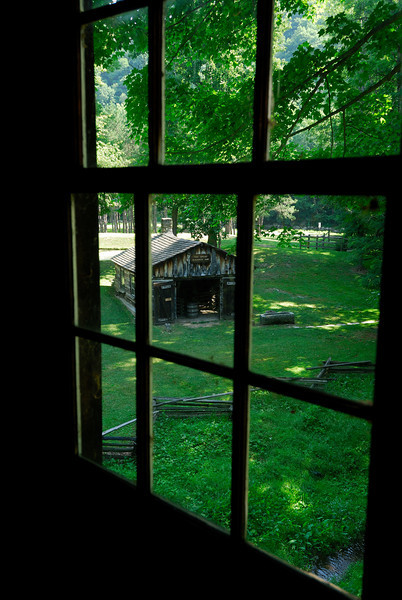 Blacksmith Shop as seen from Gaston's Mill