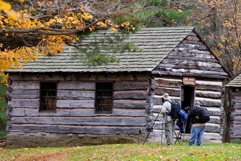 Dan and Bob at the School House - Beaver Creek State Park