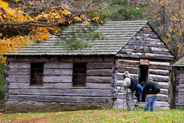 Dan and Bob at the School House - Beaver Creek State Park