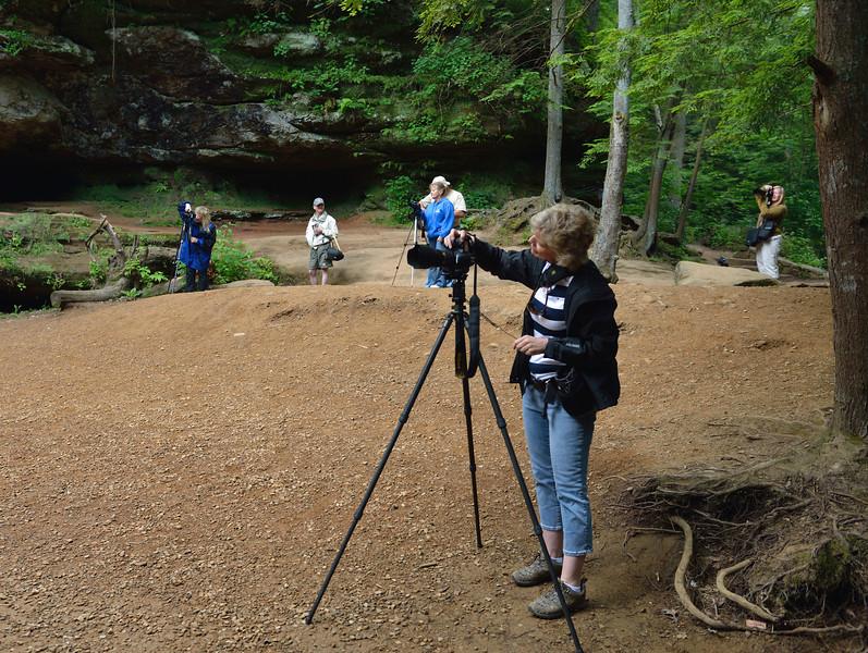 Photographers at Upper Falls - Hocking Hills