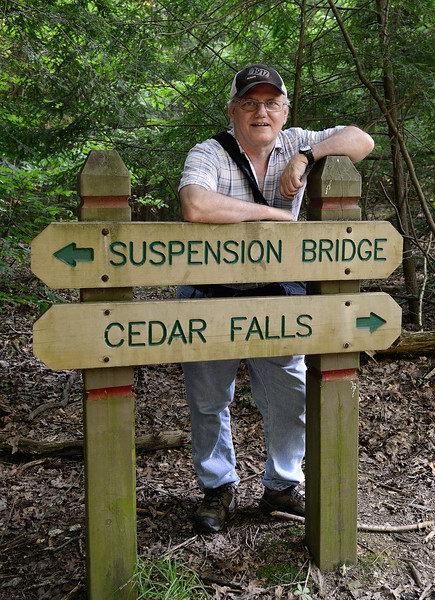 Me going to scout out the water conditions at Cedar Falls on Thursday night - Hocking Hills