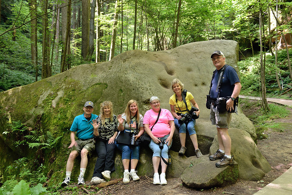 Photographers at the Slump Block in Conkle's Hollow - Hocking Hills