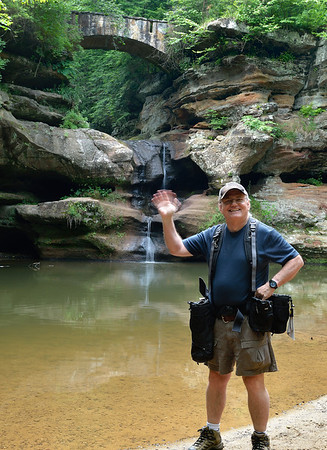Greetings From Hocking Hills - Me doing the wave at Upper Falls  Ya know I don't think I've ever not had fun when I'm taking photos, I've taken a lot of rotten shots but I've always had a good time!!!