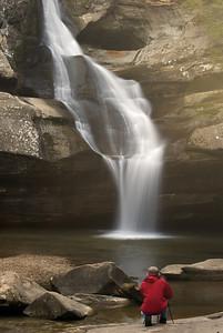 Photographer at Cedar Falls
