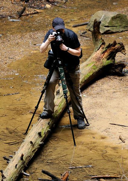 Photographer at Ash Cave - Hocking Hills
