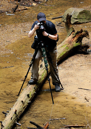 Photographer at Ash Cave - Hocking Hills