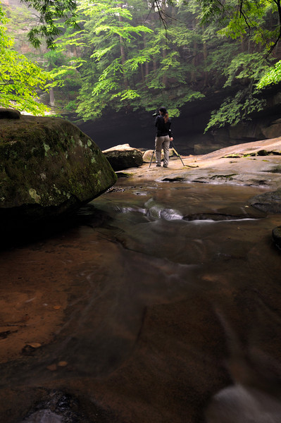 Photographer at Cedar Falls - Hocking Hills State Park