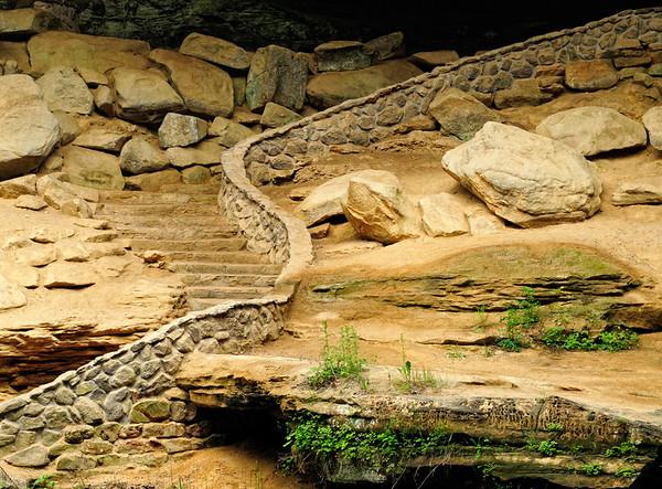 Old Man's Cave Stairway - Hocking Hills State Park