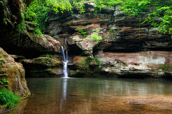 Upper Falls - Old Man's Cave - Hocking Hills State Park