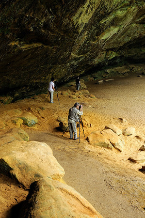 Photographers at Ash Cave - Hocking Hills