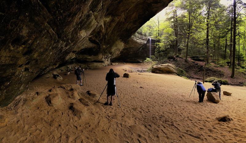 Photographers at Ash Cave - Hocking Hills,