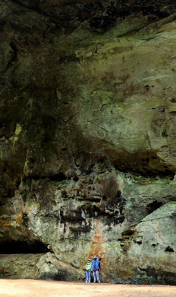 Tiny Photographers in a Huge Cave - Ash Cave- Hocking Hills