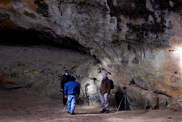 Nancy, Jim and Eric - Ash Cave