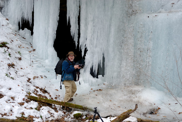 Dale, checking out the Ice Cave