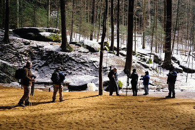 Neoshoots Photographers at Ash Cave in Hocking Hills