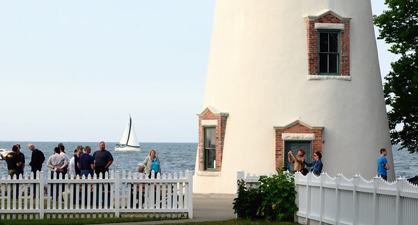 Tourists at the Marblehead Lighthouse