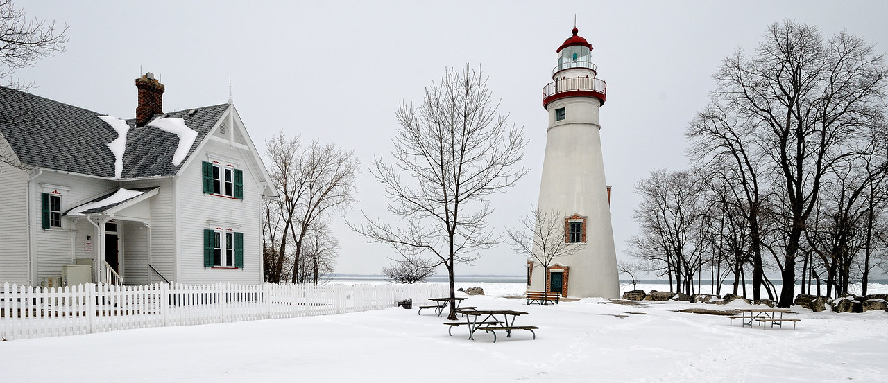 Marblehead Lighthouse in the Winter